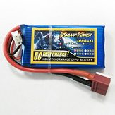 Аккумулятор 7.4V 1000mAh 2S 25C LiPo T-plug Giant Power